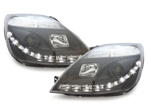 DAYLINE headlights Ford Fiesta 01-05 _drl-optic _ black