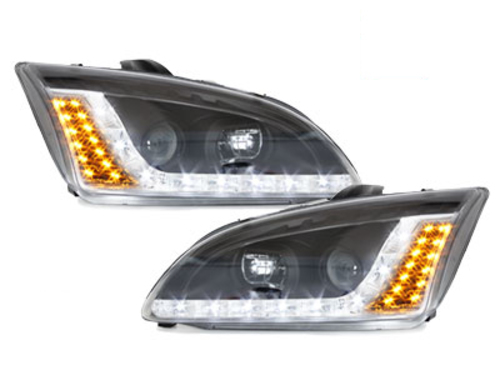 DAYLINE headlights Ford Focus 05-02.08 _drl-optic _ black