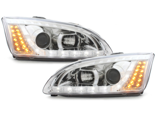 DAYLINE headlights Ford Focus 05-02.08 _drl-optic _ chrome
