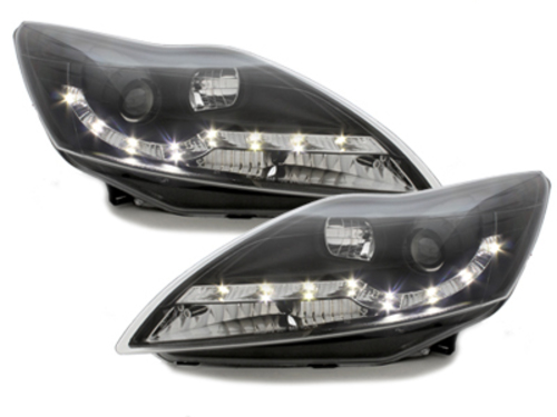 DAYLINE headlights Ford Focus 08-11_drl optic_chrome