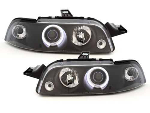 headlights suitable for FIAT Punto 93-99_1 CCFL halo rim_black