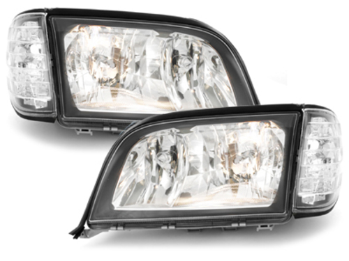 headlights Mercedes Benz W140 S class 92-98_black