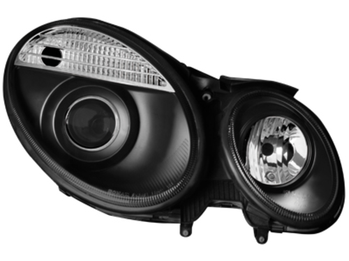 headlights Mercedes Benz W211 E class 06-08_black