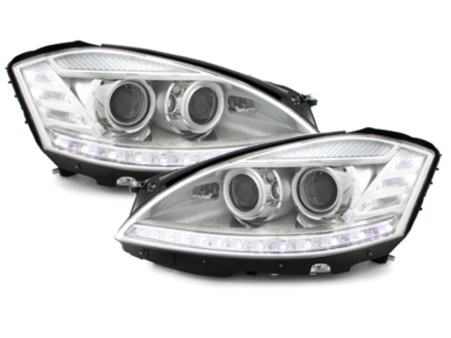 Headlights Mercedes Benz W221 S class 05-09 HID XENON Chrome