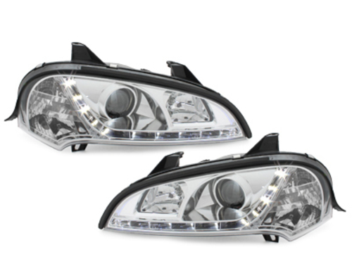 headlights Opel Tigra 94-00 _ 2 halo rims_ black