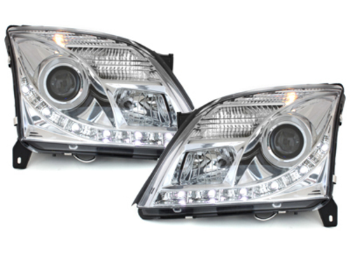 DAYLINE headlights Opel Vectra C 02-05 chrome