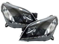 DAYLINE headlights Opel Astra H 04-09_drl optic_black