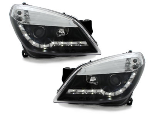 DAYLINE headlights Opel Astra H 04-09 _drl-optic _ black