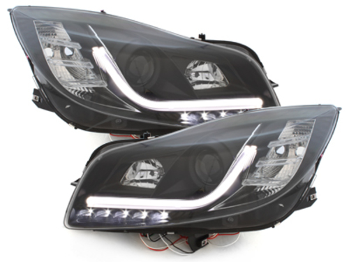 Headlights suitable for OPEL Insignia (2009-up) LED DRL Daytime Running Lights Black