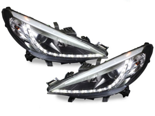 D-LITE headlights Peugeot 207 06-10_daytime running light_bl