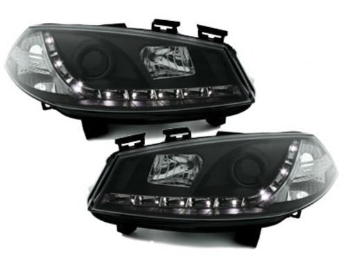 Headlights Renault Megane 2003-2006 LED DRL Black