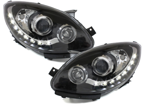 DAYLINE headlights Renault Twingo II 07+ _ drl-optic_ black