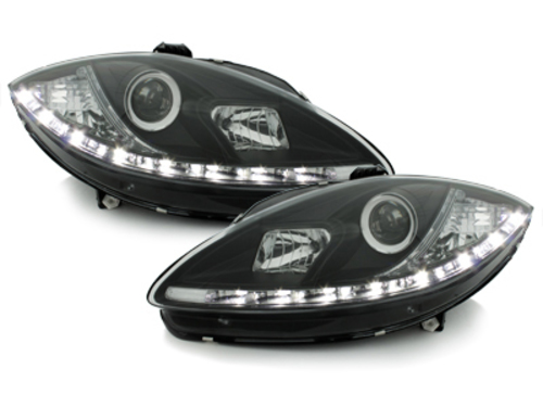 DAYLINE headlights Seat Leon 1P1 05-09 _ drl-optic _ black