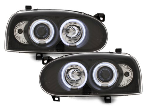 headlights VW Golf III 92-98_2 CCFL halo rims_black
