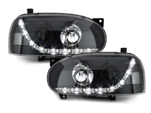 DAYLINE headlights VW Golf III 92-98 _ drl-optic