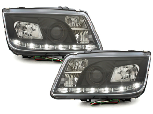DAYLINE Headlights VW Bora 98-05 DRL Optic Black