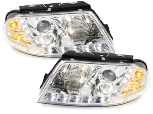 DAYLINE headlights VW Passat 3BG 00-04 _ drl-optic _ chrome