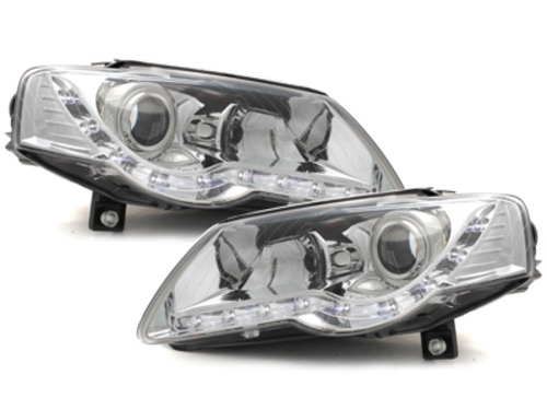 DAYLINE headlights VW Passat 3C 05+ _ drl-optic _ chrome