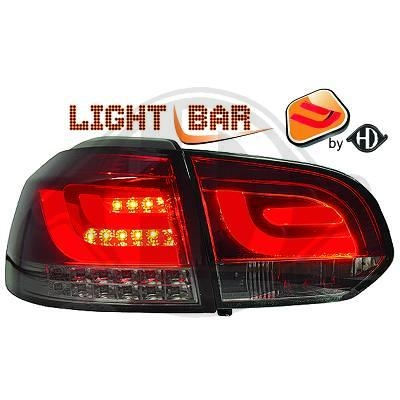 VW Golf 6 taillights 08-12 red / smoke